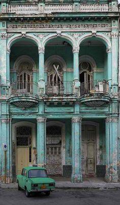 Una oficina en La Havana Cuba.Es muy antigua
