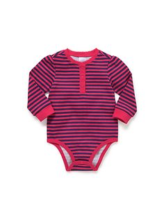 Mix Apparel Stripe Picot Bodysuit