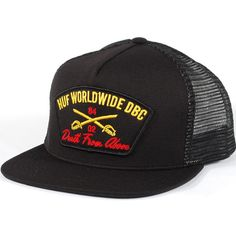 Huf Death From Above Trucker Hat (Black) $35.95