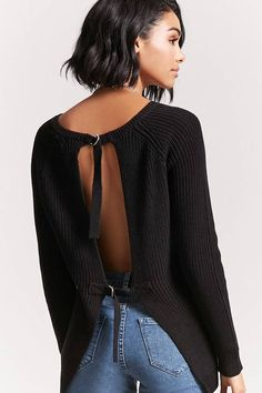 FOREVER 21 Buckled Open-Back Sweater