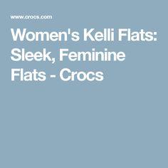 Women's Kelli Flats: Sleek, Feminine Flats - Crocs