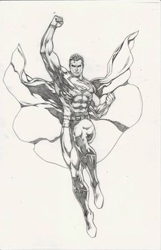 Superman by Ace Continuado Superman Drawing, Superman Art, Comic Drawing, Anatomy Sketches, Art Drawings Sketches, Cool Drawings, Comic Book Heroes, Comic Books Art, Comic Art