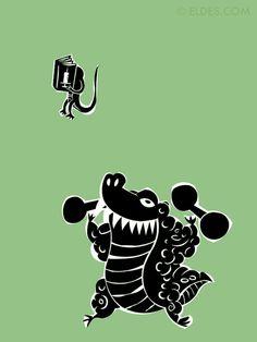 """Ilustração interna para o livro """"Como eram os animais"""", da Réptil Editora."""