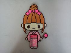 Japanese Girl hama perler beads by JeanSmart
