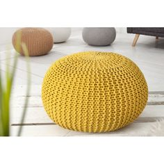 knitted pouffe yellow stricken knitted pouffe yellow stricken The post knitted pouffe yellow stricken appeared first on Wohnaccessoires. Knitted Pouffe, Crochet Pouf, Floor Cushions, Seat Cushions, Kids Furniture, Outdoor Furniture, Outdoor Decor, Leeds, Yellow Ottoman