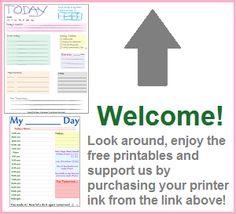 Free Printables - Free online printables, free printables, free organizational tools