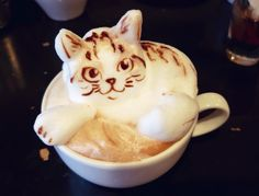 ネコチャン Cute Kitty Latte Art ♡ Coffee Latte Art, Coffee Love, Latte Art Tutorial, Different Coffee Drinks, Pac Man Cake, Tenten Y Neji, Japanese Snacks, Cute Desserts, Coffee Design