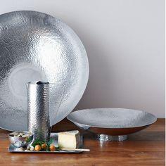 Hammered Metal Serving Bowls
