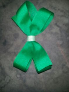 Small green bow