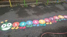 School Playground Number Caterpillar Graphics
