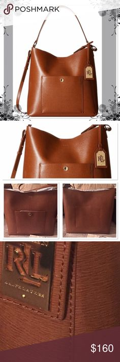 "💓FINAL PRICE💓Lauren Ralph Lauren Newbury Hobo Authentic fine leather❣️ tan color with double shoulder strap.  Long shoulder strap is adjustable.  You can wear it long or short on shoulder.  One front pocket with buckle closure.  Magnetic closure on main compartment.  One slip-in inner pocket. Measurements: Bottom 12 1/2"" x 5 1/2"" x 12"". Lauren Ralph Lauren Bags Hobos"