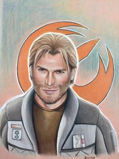 """insideoutnose: """"Captain Kallus of Star Wars: Rebels, colored pencil. Finally calling a wrap on this thing. """""""