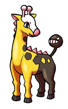 Gentle Girafarig by Red-Flare on deviantART
