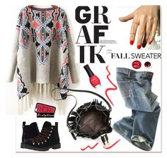 """""""grafic sweater"""" by paculi ❤ liked on Polyvore featuring Polo Ralph Lauren, Topshop, Vince Camuto, Circus By Sam Edelman, Korres, ORLY and nastydress"""