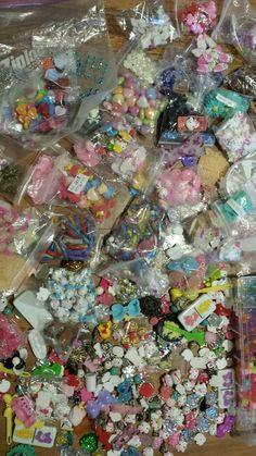 Huge lot 4 lbs Decoden Sweets Deco Resin Kawaii Cabochon Assortment Assorted