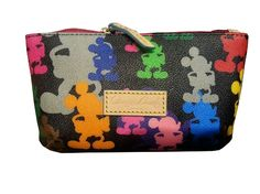 Disney Dooney and Bourke Bag - Colorful Mickey Mouse - Cosmetic Bag