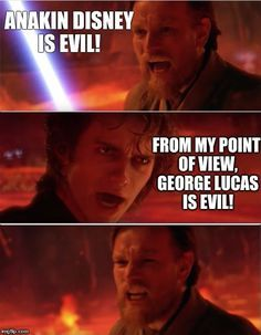 When Star Wars Went To Disney Funny Star Wars Memes Star Wars Humor Star Wars Quotes