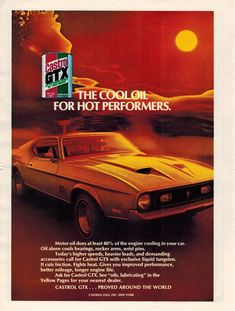 VINTAGE AD Jet 1971 FORD MUSTANG Mach 1 Sports Car Its A Personal Thing