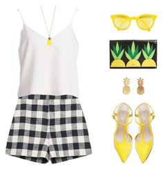 """""""Pineapple"""" by anthy ❤ liked on Polyvore featuring Zara, Betsey Johnson, Kate Spade, Sunpocket, Vinca, women's clothing, women, female, woman and misses"""