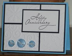 use different embossing folders instead of various patterned papers