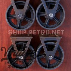 7.25″ mounted height. Not available with brake.  700 lbs rating on on wheel, handmade forks have not been tested for rating.  We offer discounts for quantity caster orders which is calculated when added to cart. 20-48 = 10% discount 49-80 = 20% discount 81 + = 30% discount