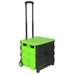 Highlights: Der Einkaufstrolley ist auf ein handliches Maß schnell zusammenklappbar ABS Kunststoff, beständig bei Hitze und Kälte, verwindungs-resistent Die Leichtlaufrollen machen den Transport um vieles leichter...