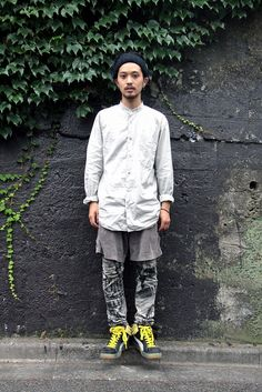 shortpants. yellow fringe. #tokyo #streetstyle #harajuku