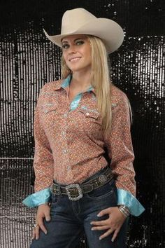 Women's Long Sleeve Cruel Girl Assorted Plain Weave Print - 2019 Sexy Cowgirl, Cowgirl Mode, Estilo Cowgirl, Cowgirl Style, Cowgirl Hats, Western Style, Hot Country Girls, Country Girl Style, Country Women
