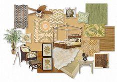 British Colonial West Indies bedroom
