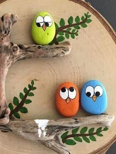 Stone Crafts, Rock Crafts, Fun Crafts, Crafts For Kids, Arts And Crafts, Rock Painting Patterns, Rock Painting Ideas Easy, Rock Painting Designs, Stone Art Painting
