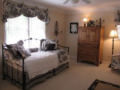 I Have Decided That Want A Black White French Toile Bedroom Think Am Going To Hit Lot Of Garage S And Do