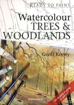 Watercolour Trees & Woodlands (Ready to Paint) Watercolor Paintings, Painting Trees, Watercolour Tutorials, Drawing Skills, Book Art, October 1, Amazon, Art Tutorials, Books