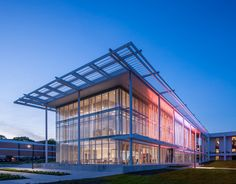 Image 18 of 30 from gallery of Watt Family Innovation Center / Perkins+Will. Photograph by Jonathan Hillyer Modern Architecture Design, Education Architecture, Architecture Colleges, Innovation Centre, Canopy Design, Cultural Center, Higher Education, Gallery, Performing Arts