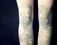 Please your master race brethren by giving your outfit a geeky touch using these colorful circuit board tattoo tights. Each pair features a unique design that creates the illusion you've tattooed complex circuit boards all over your legs. Cool Tights, Mens Tights, Funky Tights, Circuit Board Tattoo, Computer Tattoo, Chip Tattoo, Tattoo Tights, Computer Chip, Filipino Tattoos