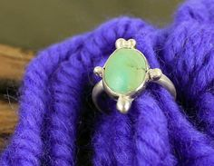 Sterling Silver and Turquoise Ring Size 7 1/2 by AeryckdeSade, $30.00