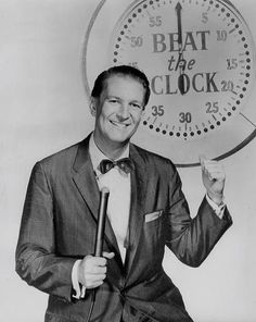 Bud Collyer - Beat the Clock  He always seemed crabby with kids of contestants.