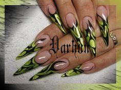 #stilettonails  tatoo+nails+by+Darhon+-+Nail+Art+Gallery+nailartgallery.nailsmag.com+by+Nails+Magazine+www.nailsmag.com+%23nailart