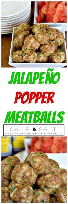 2 game day favorites, your basic meatball & the forever popular Jalapeño…