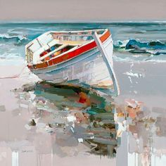 Josef Kote - Sweet Escape - My Bilder Landscape Art, Landscape Paintings, Landscapes, Pinterest Pinturas, Sailboat Painting, Boat Art, Seascape Paintings, Oil Paintings, Acrylic Art