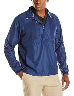 Zero Restriction Mens Mix 2 Layer Wind Jacket Blue Indigo Large -- More info could be found at the image url. (This is an affiliate link) #FitnessYoga