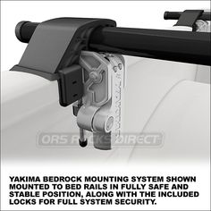 2013 Yakima BedRock Truck Rack for Pickup Cargo Bed Rails (Also Requires Pair of Yakima Crossbars)  - 8001140- extra image 2