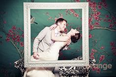 fantastic wedding studio booth, love the frame and cherry blossom background Event Photo Booth, Wedding Photo Booth, Photo Booth Props, Photo Booths, Photo Backdrops, Picture Booth, Wedding Photo Pictures, Cherry Blossom Background, Winter Wonderland Party