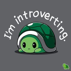 Im Introverting T-Shirt / Mens / S - Introvert Shirt - Ideas of Introvert Shirt - I'm Introverting T-Shirt TeeTurtle Cute Animal Quotes, Animal Memes, Funny Animals, Cute Animals, Cute Animal Drawings, Kawaii Drawings, Cute Drawings, Tv Drawing, Cartoon Mignon
