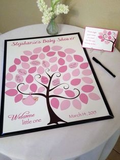 Baby Shower Guest Sign-In Tree Poster Baby by KreationsbyMarilyn: