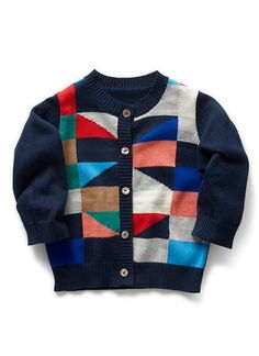 Baby Clothes Knitwear & Jumpers | Bb Colour Block Cardi | Seed Heritage