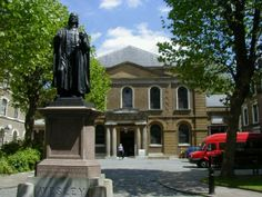 This is the Wesley Museum in London. I was just reading about him this morning!