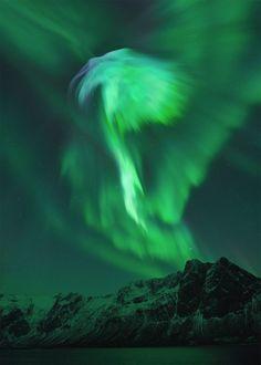 Aurora, forma de águia!