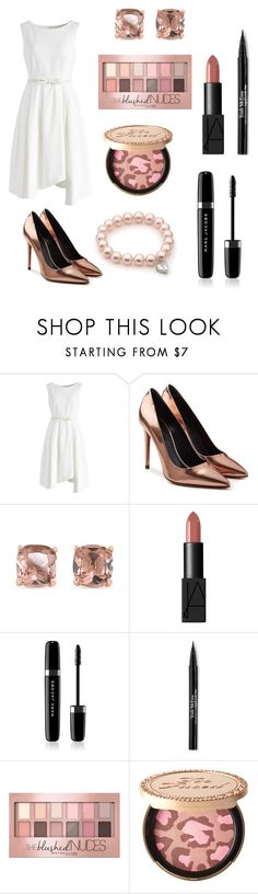 """🌸"" by therealnajwa on Polyvore featuring Chicwish, Alexander Wang, Carolee, NARS Cosmetics, Marc Jacobs, Trish McEvoy, Maybelline and Too Faced Cosmetics"