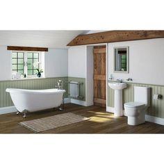 Deco Bathroom Suite with Slipper Bath (Large)