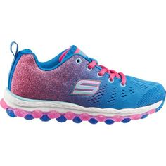 Skechers Girls' Skech-Air Ultra Glitterbeam Shoes (Blue/Medium Pink, Size 3) - Girl's Lifestyle Shoes at Academy Sports